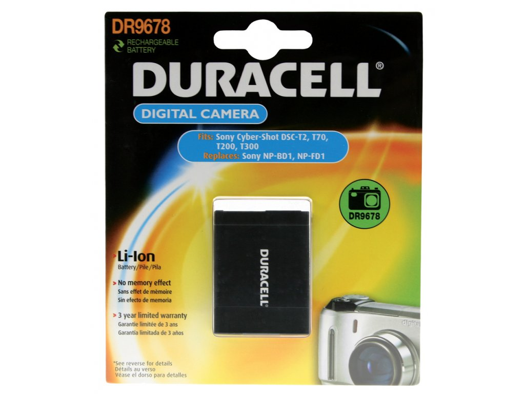 Duracell DR9678, 3,7 V 650 mAh, Lithium ion