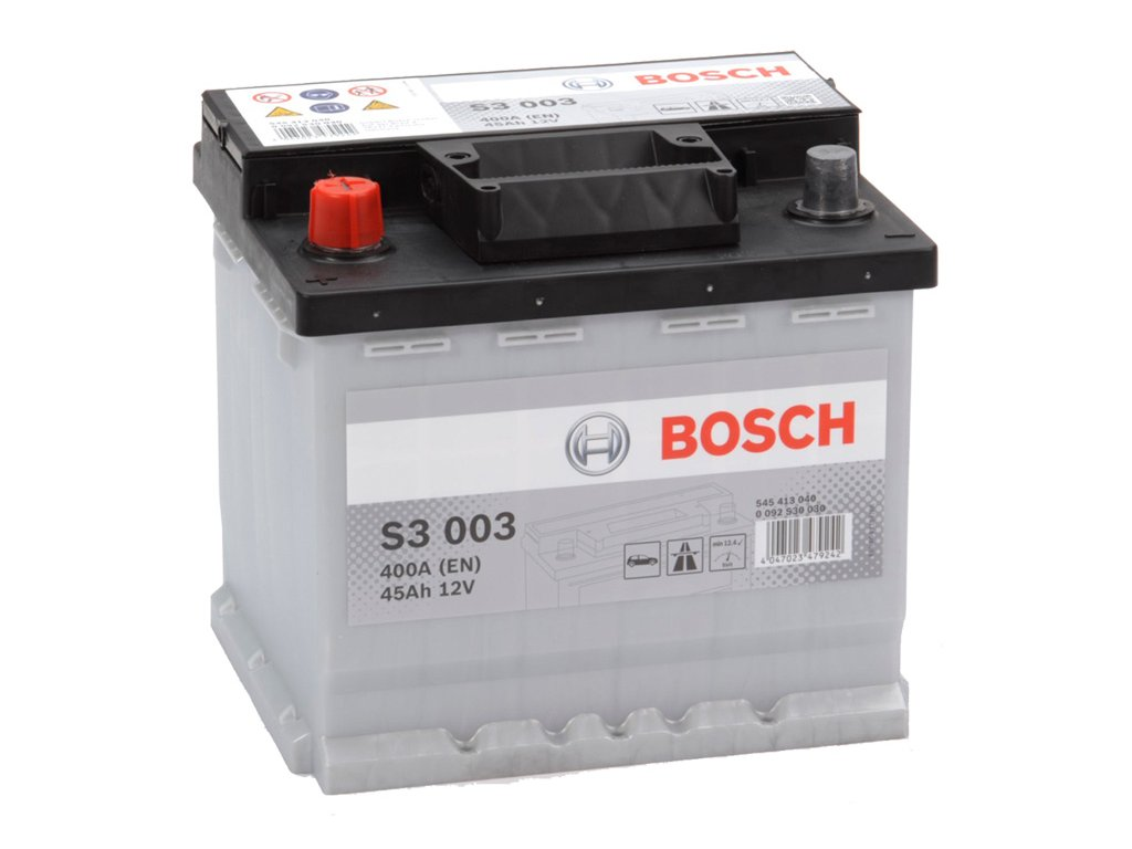 Autobaterie BOSCH S3 003, 45Ah, 12V (0 092 S30 030)