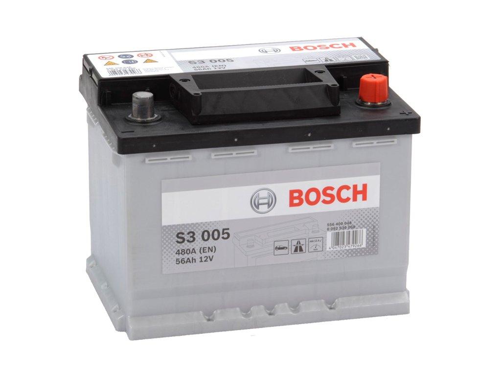 Autobaterie BOSCH S3 005, 56Ah, 12V (0 092 S30 050)