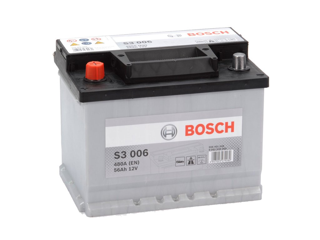 Autobaterie BOSCH S3 006, 56Ah, 12V (0 092 S30 060)
