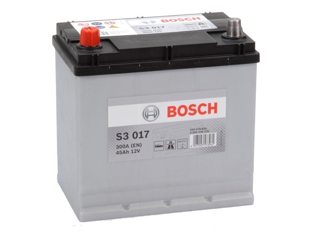 Autobaterie BOSCH S3 017, 45Ah, 12V (0 092 S30 170)