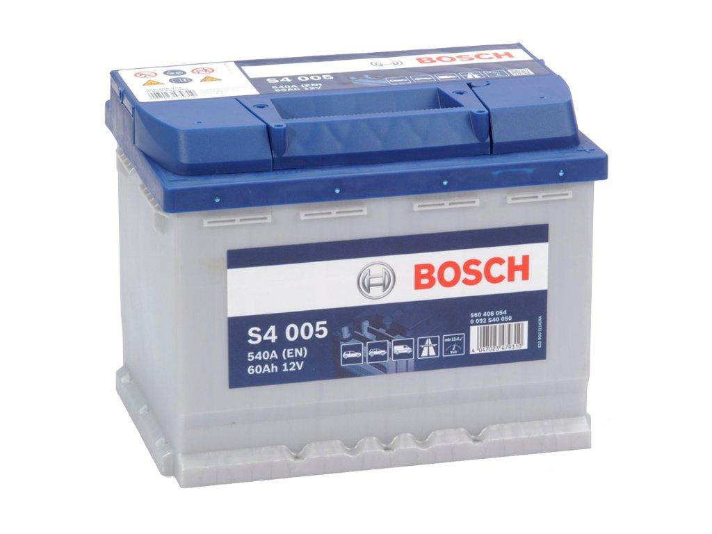 Autobaterie BOSCH S4 005, 60Ah, 12V (0 092 S40 050)