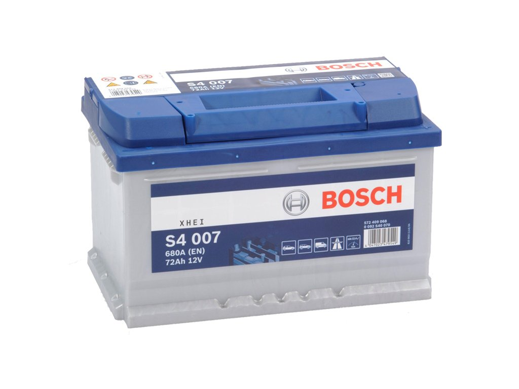 Autobaterie BOSCH S4 007, 72Ah, 12V (0 092 S40 070)