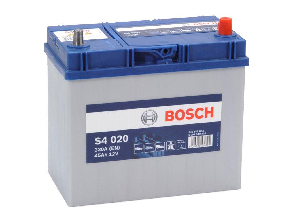 Autobaterie BOSCH S4 020, 45Ah, 12V (0 092 S40 200)