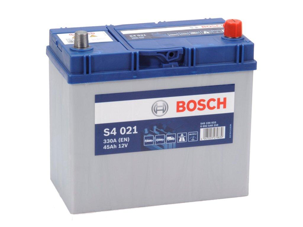 Autobaterie BOSCH S4 021, 45Ah, 12V (0 092 S40 210)