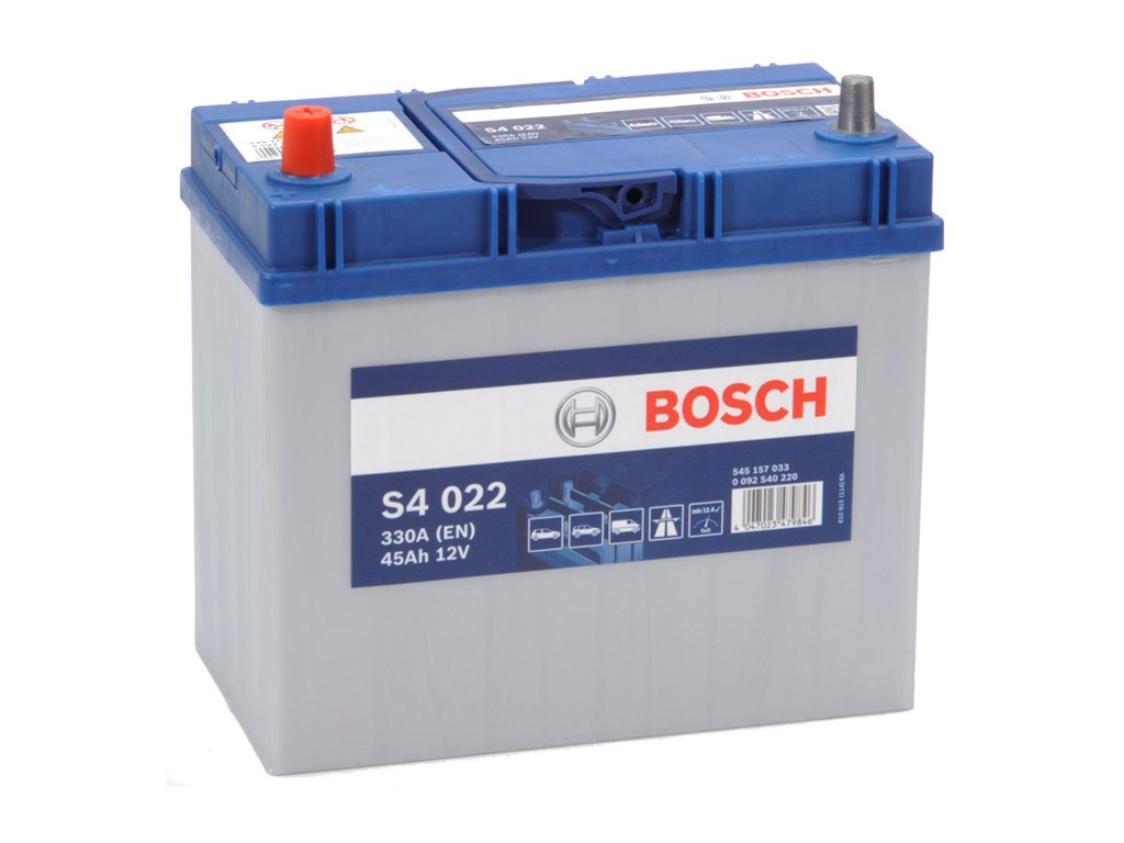 Autobaterie BOSCH S4 022, 45Ah, 12V (0 092 S40 220)