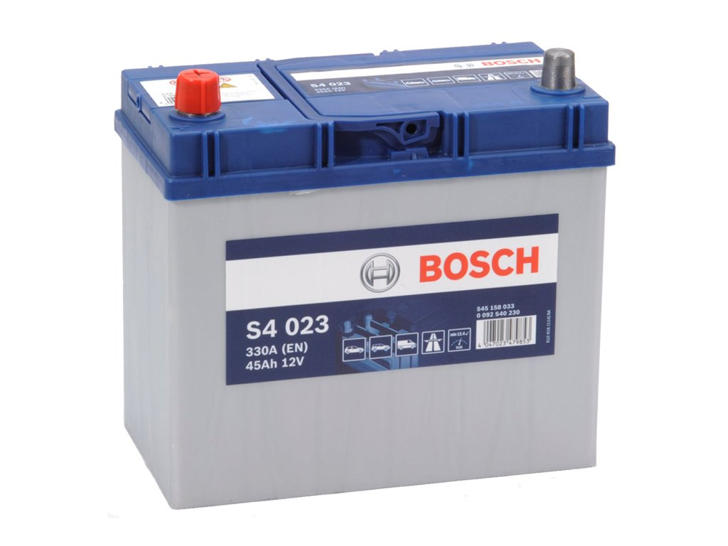 Autobaterie BOSCH S4 023, 45Ah, 12V (0 092 S40 230)