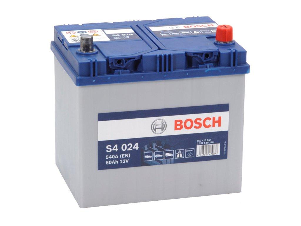 Autobaterie BOSCH S4 024, 60Ah, 12V (0 092 S40 240)