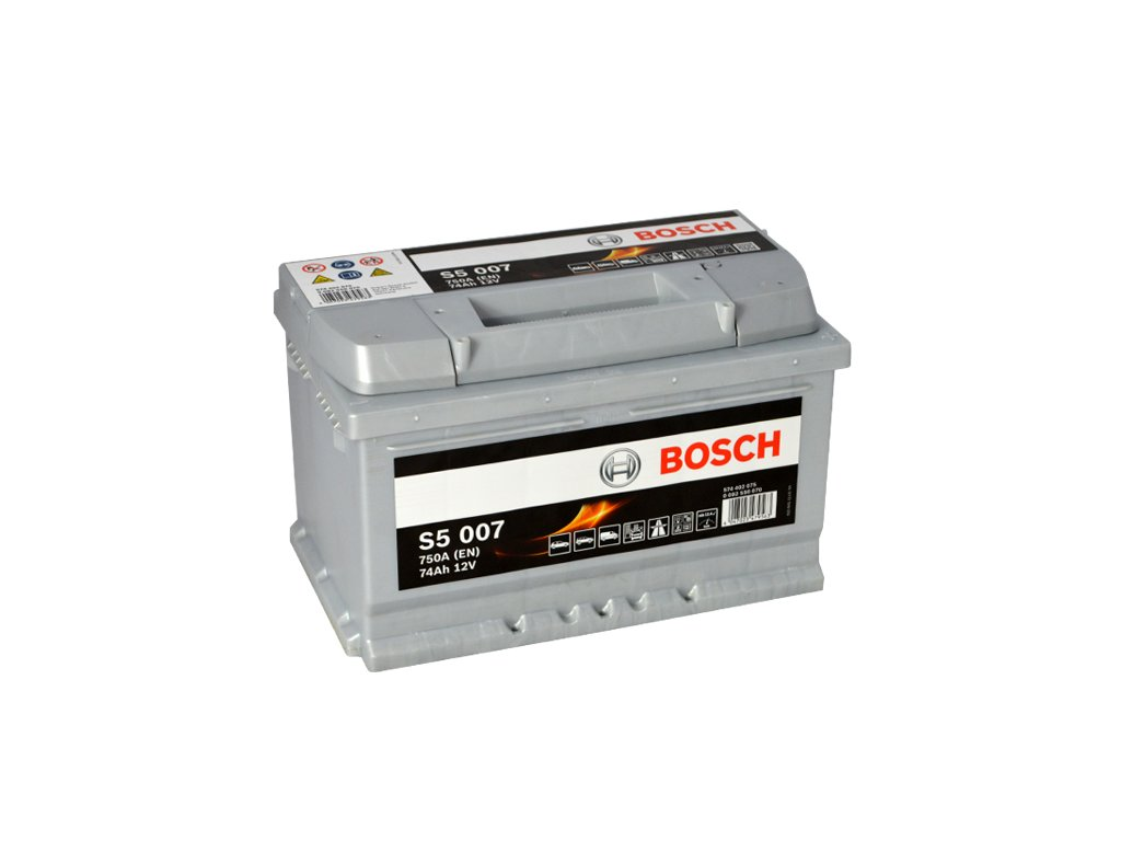 Autobaterie BOSCH S5 007, 74Ah, 12V (0 092 S50 070)