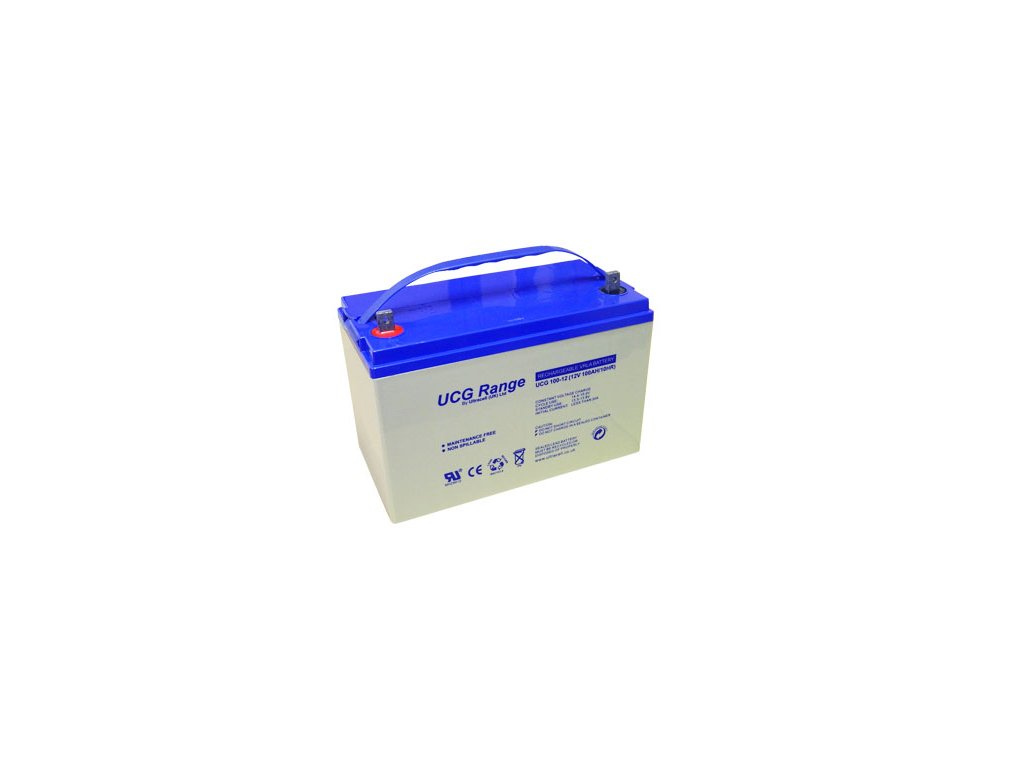 Ultracell UCG100-12 (12V - 100Ah), VRLA-GEL trakční baterie
