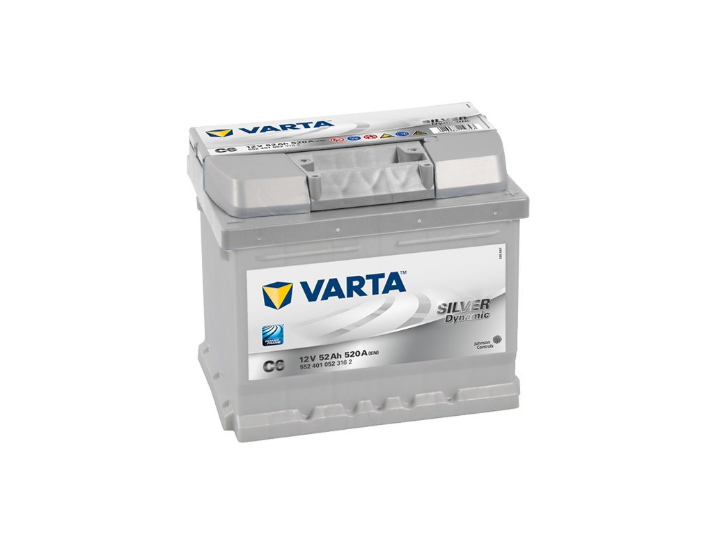 Autobaterie VARTA SILVER Dynamic 52Ah, 12V, C6