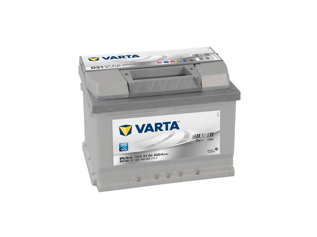 Autobaterie VARTA SILVER Dynamic 61Ah, 12V, D21