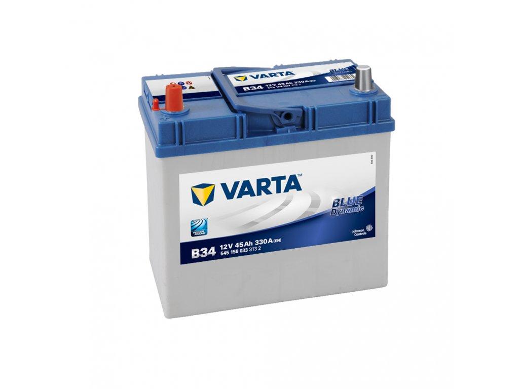 Autobaterie VARTA BLUE Dynamic 45Ah, 12V, B34