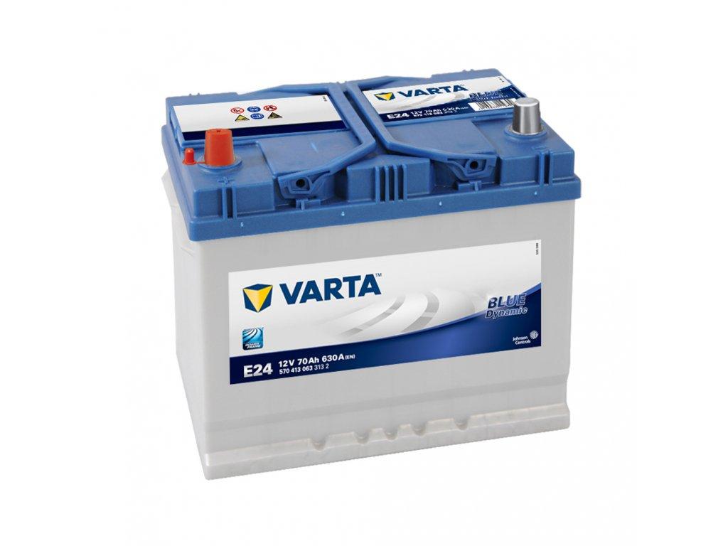 autobaterie varta blue dynamic 70ah 12v e24 battery import. Black Bedroom Furniture Sets. Home Design Ideas