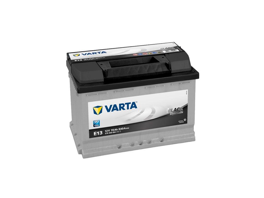 Autobaterie VARTA BLACK Dynamic 70Ah, 12V, E13