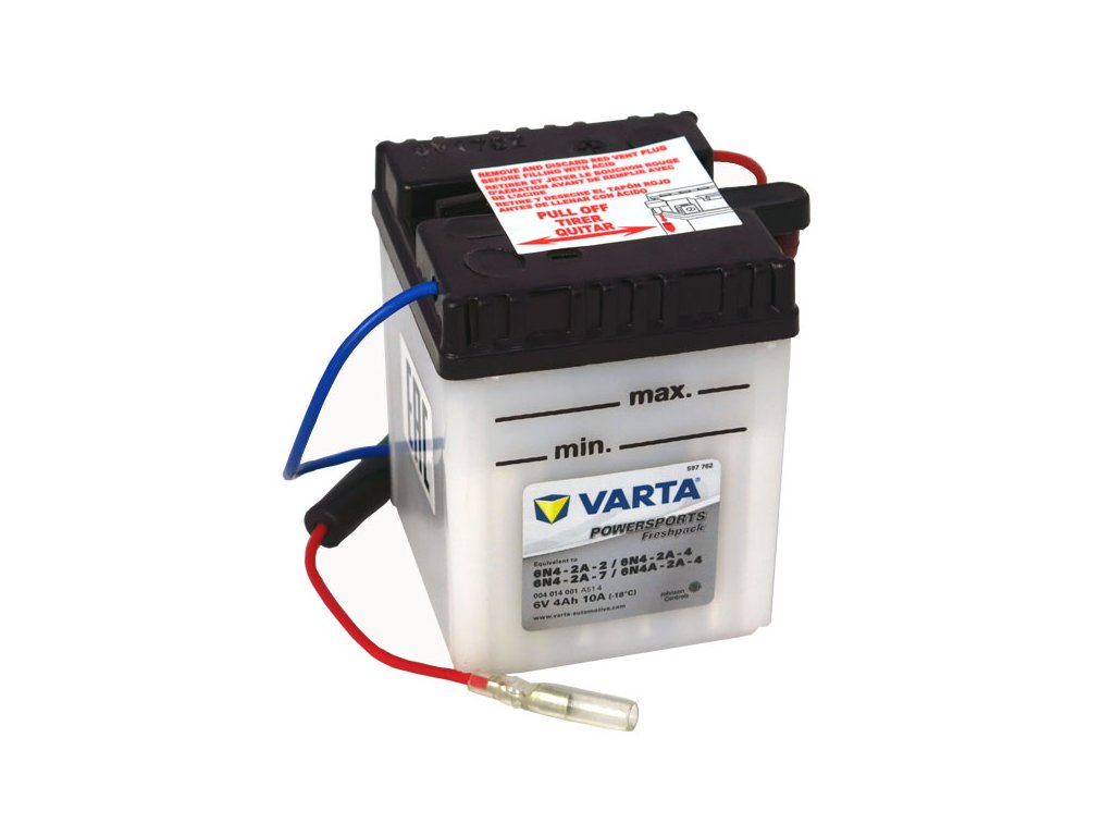 Motobaterie VARTA 6N4-2A-2 / 6N4-2A-4, 4Ah, 6V