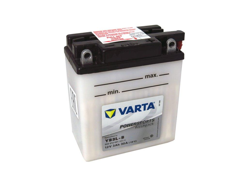Motobaterie VARTA YB3L-B, 3Ah, 12V