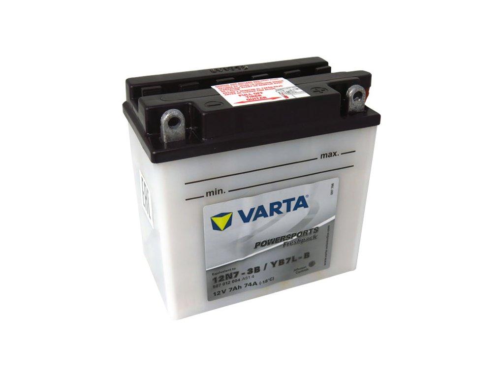 Motobaterie VARTA YB7L-B / 12N7-3B, 7Ah, 12V