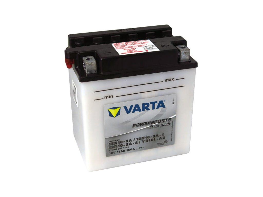 Motobaterie VARTA 12N10-3A / YB10L-A2, 11Ah, 12V