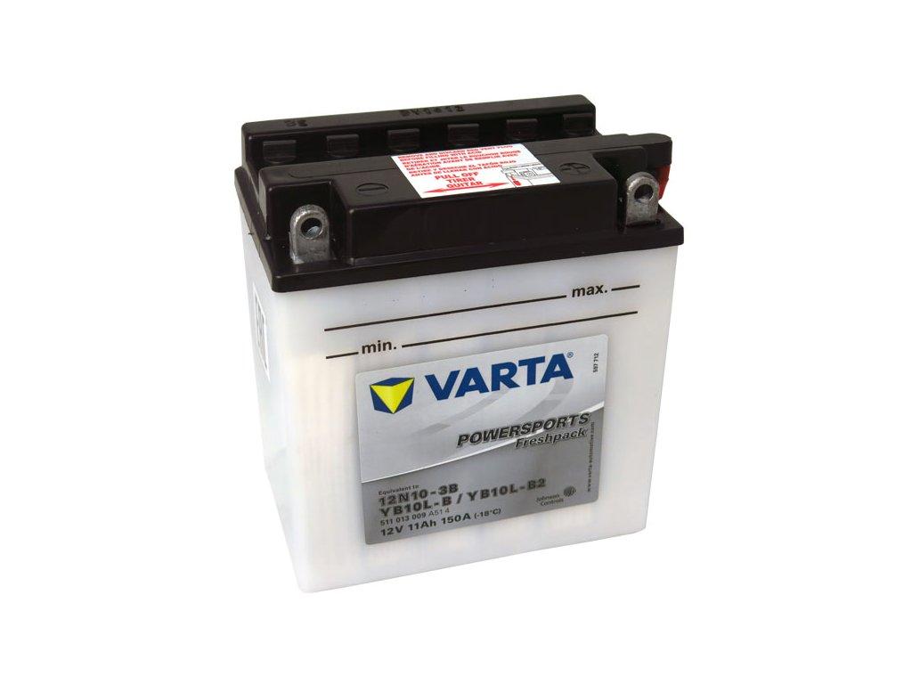 Motobaterie VARTA 12N10-3B / YB10L-B2, 11Ah, 12V
