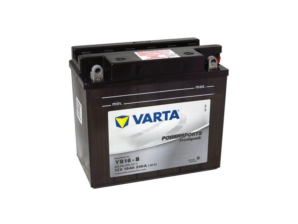 Motobaterie VARTA YB16-B, 19Ah, 12V