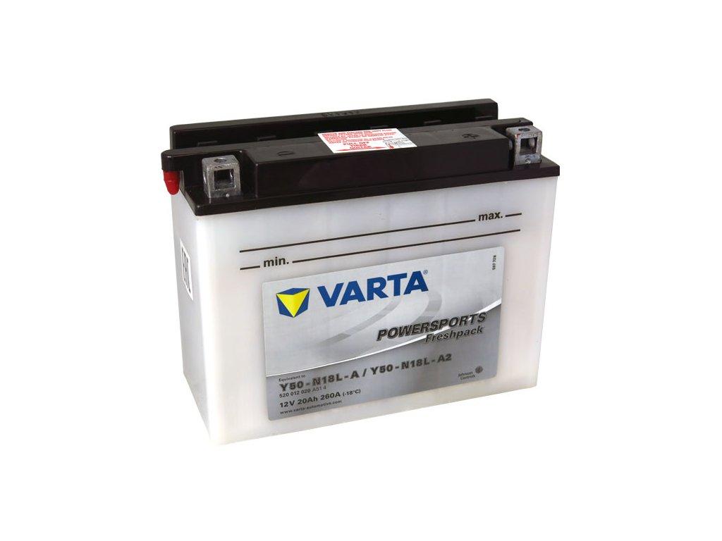 Motobaterie VARTA Y50-N18L-A / Y50-N18L-A2, 20Ah, 12V