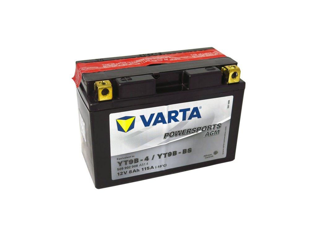 Motobaterie VARTA YT9B-BS, 8Ah, 12V