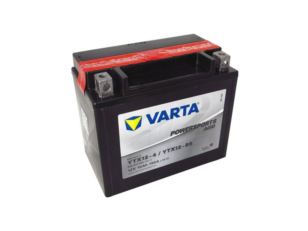 Motobaterie VARTA YTX12-BS, 10Ah, 12V