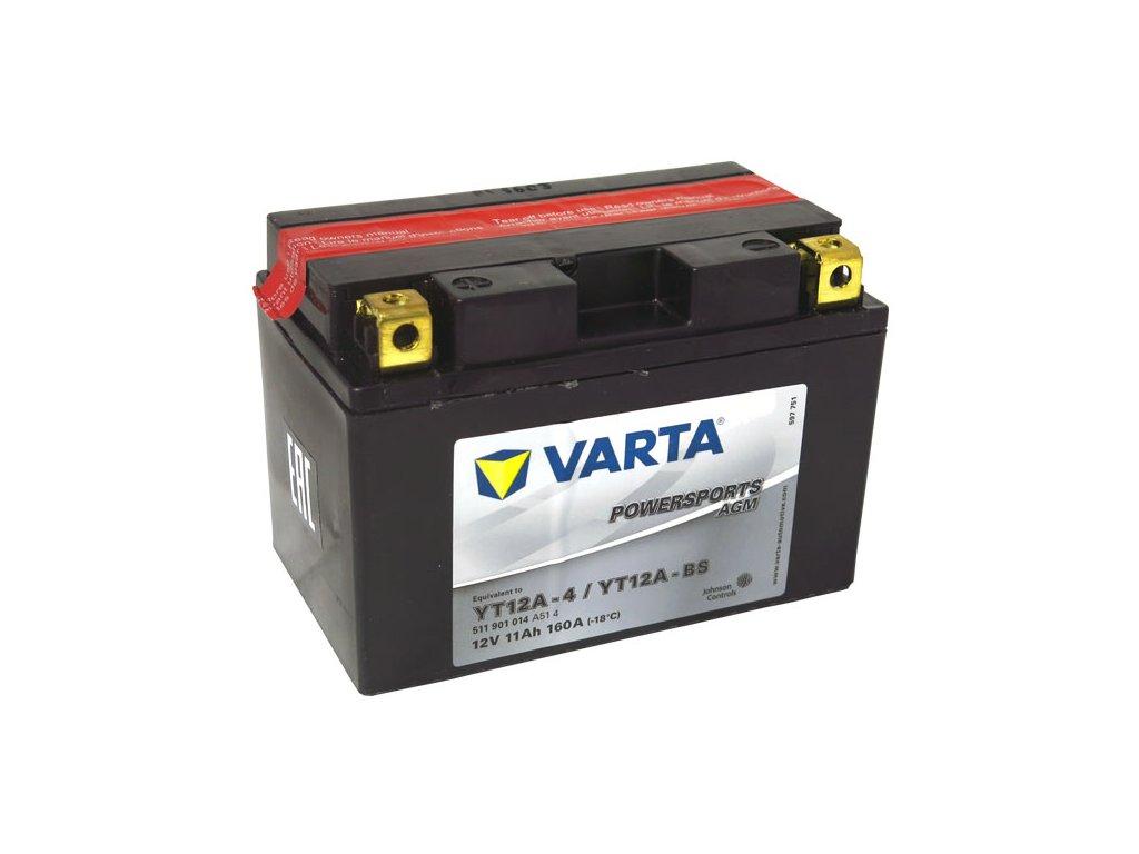 Motobaterie VARTA YT12A-BS, 11Ah, 12V