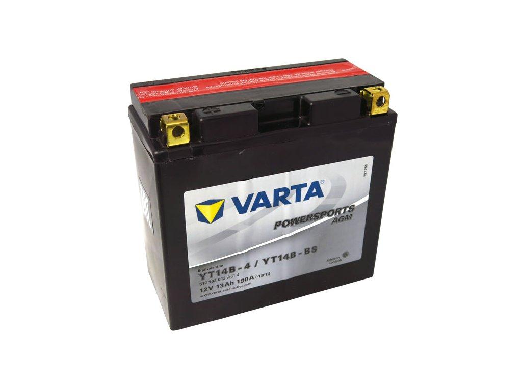 Motobaterie VARTA YT14B-BS, 13Ah, 12V