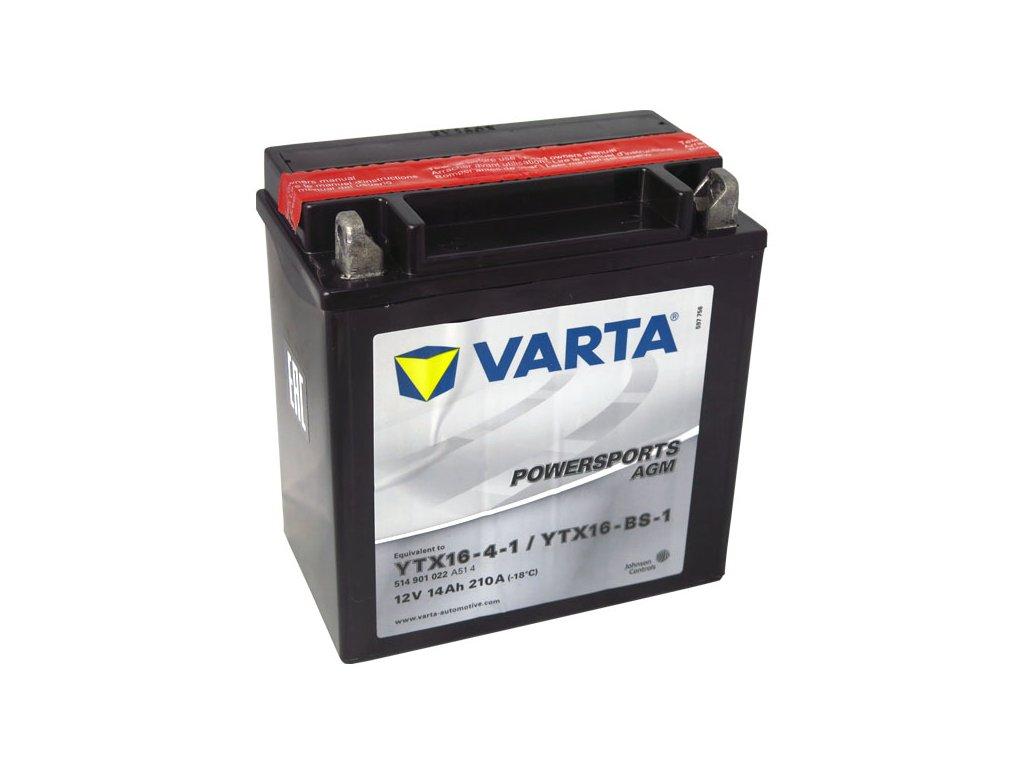 Motobaterie VARTA YTX16-BS-1, 14Ah, 12V