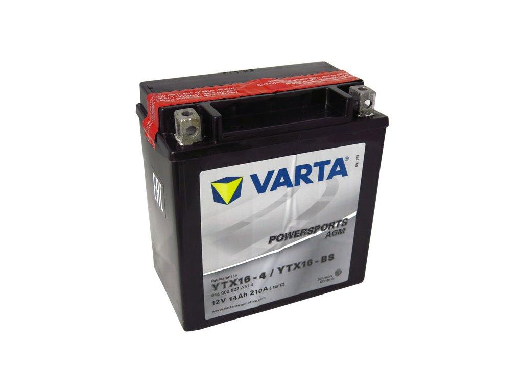 Motobaterie VARTA  YTX16-BS, 14Ah, 12V