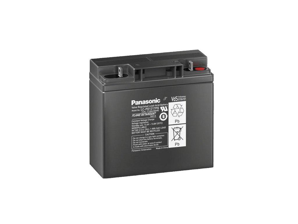 Panasonic LC-PD1217PG, 12V - 17Ah, záložní baterie