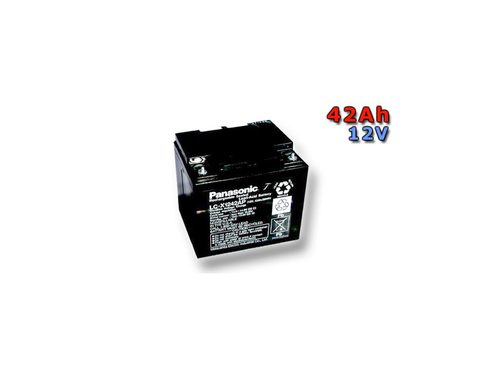 Panasonic LC-P1242AP, 42Ah, 12V, záložní baterie