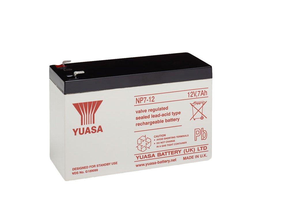 Staniční (záložní) baterie YUASA NP7-12,  7Ah, 12V