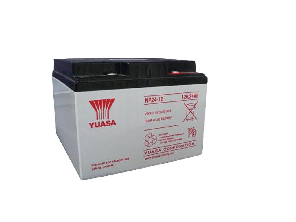 Staniční (záložní) baterie YUASA NP24-12,  24Ah, 12V