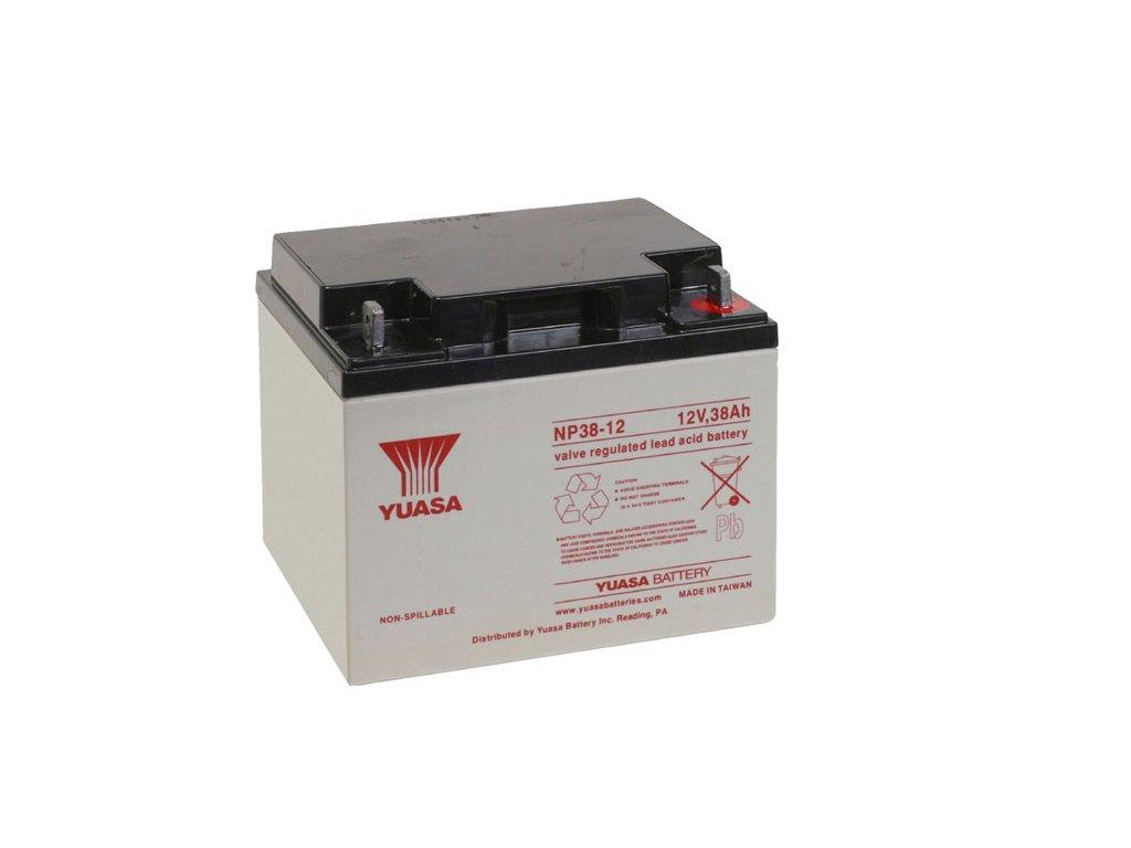 Staniční (záložní) baterie YUASA NP38-12,  38Ah, 12V