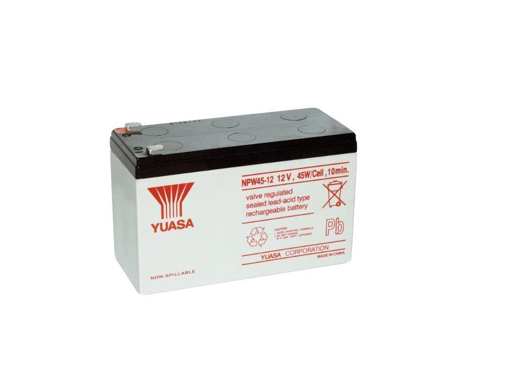 Staniční (záložní) baterie YUASA NPW45-12,  8Ah, 12V