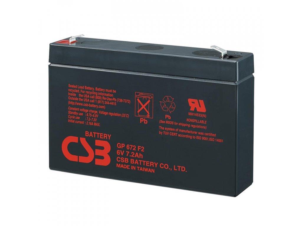 Baterie CSB GP672, 6V, 7,2Ah