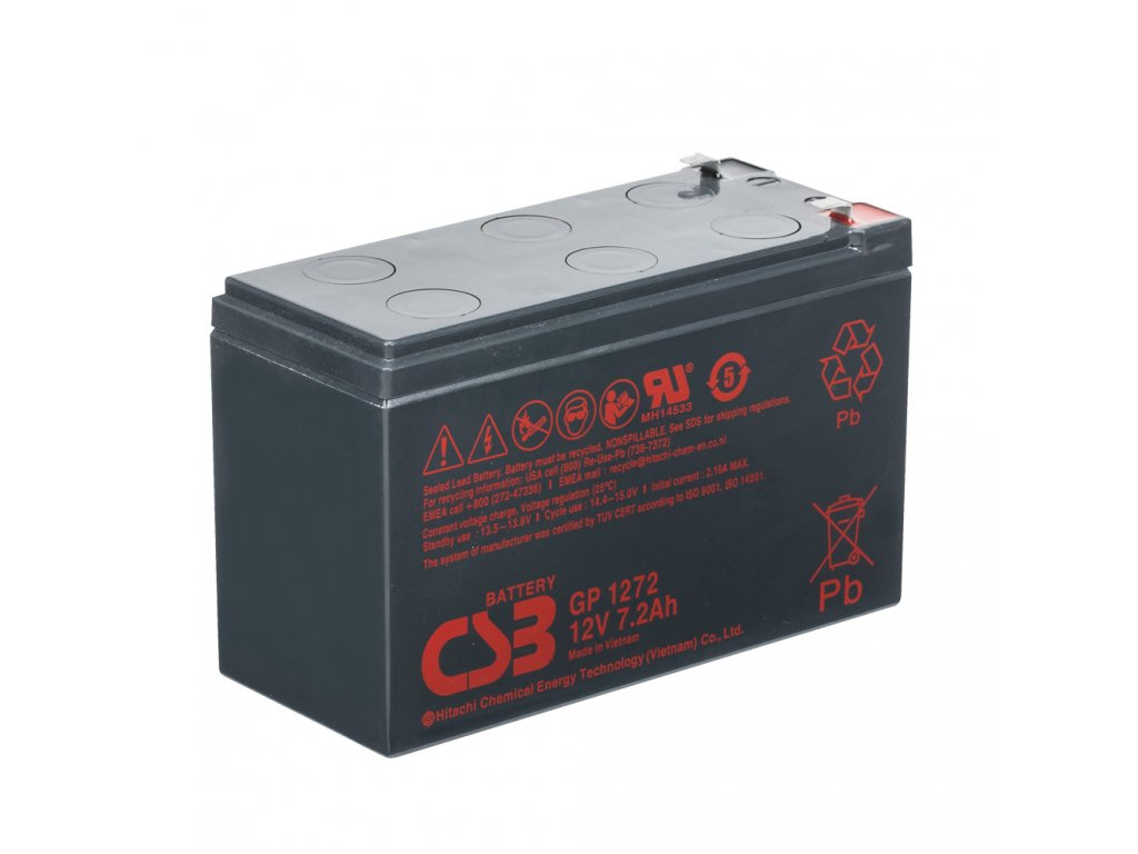 Baterie CSB GP1272 F2, 12V, 7,2Ah