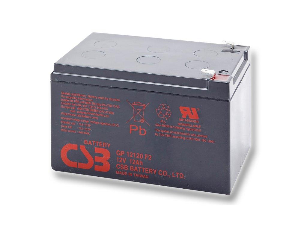 CSB Baterie GP12120 F2, 12V, 12Ah