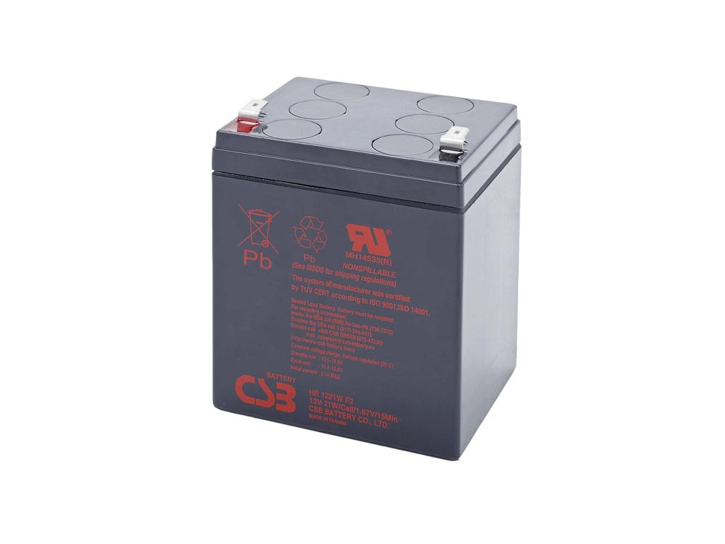 CSB Baterie HR1221W F2, 12V, 5,1Ah
