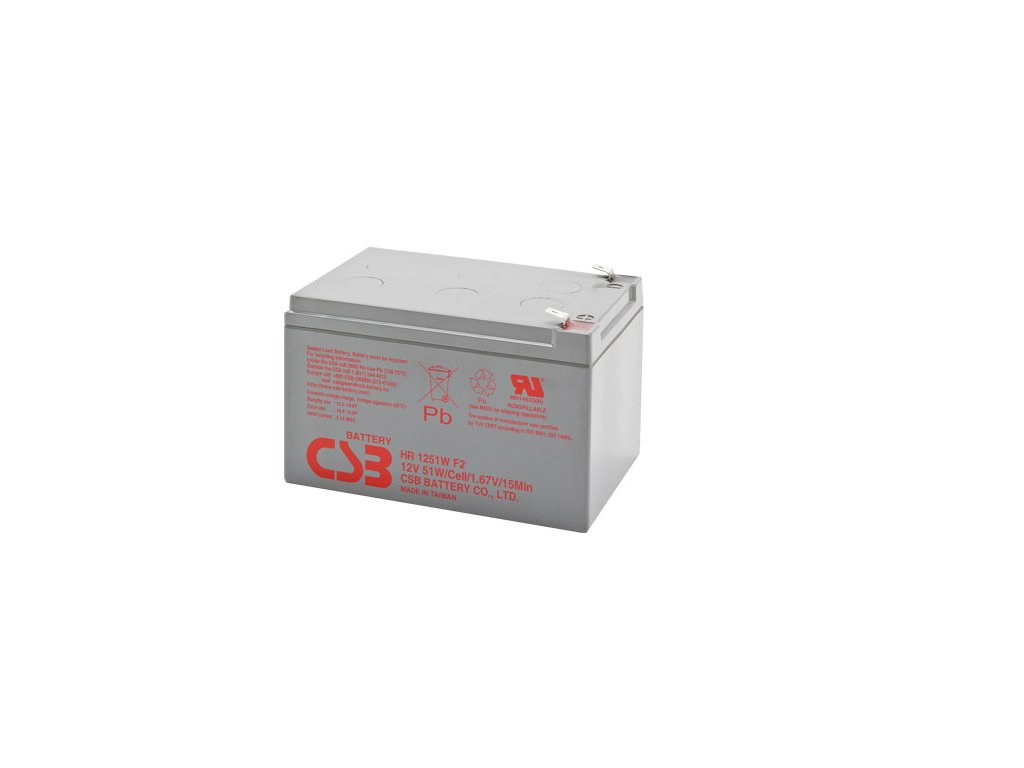 Baterie CSB HR1251W F2, 12V, 13,5Ah