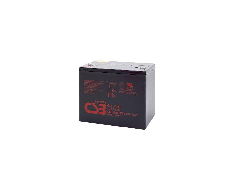 CSB Baterie GPL12750, 12V, 75Ah