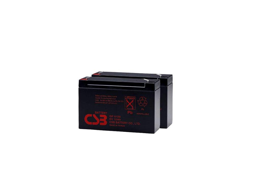 APC RBC3, alternativa bez příslušenství (2ks CSB GP6120 F2)