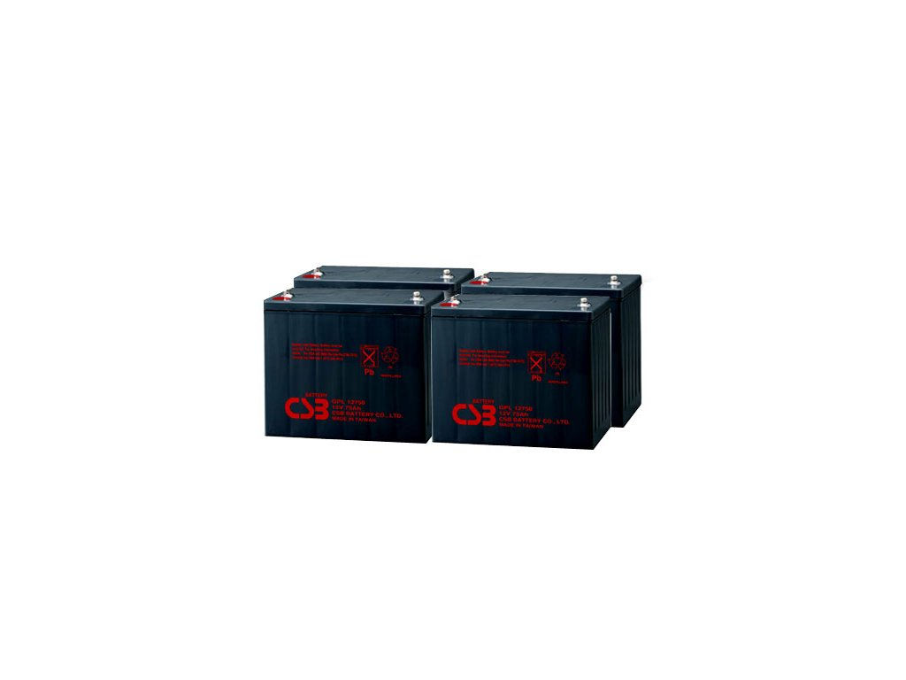 APC RBC14, alternativa bez příslušenství (4ks CSB GPL12750)