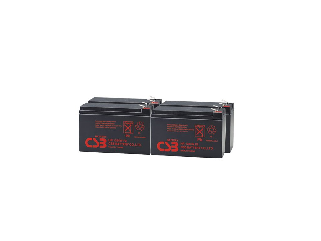 APC RBC24, alternativa bez příslušenství (4ks CSB HR1234W F2)