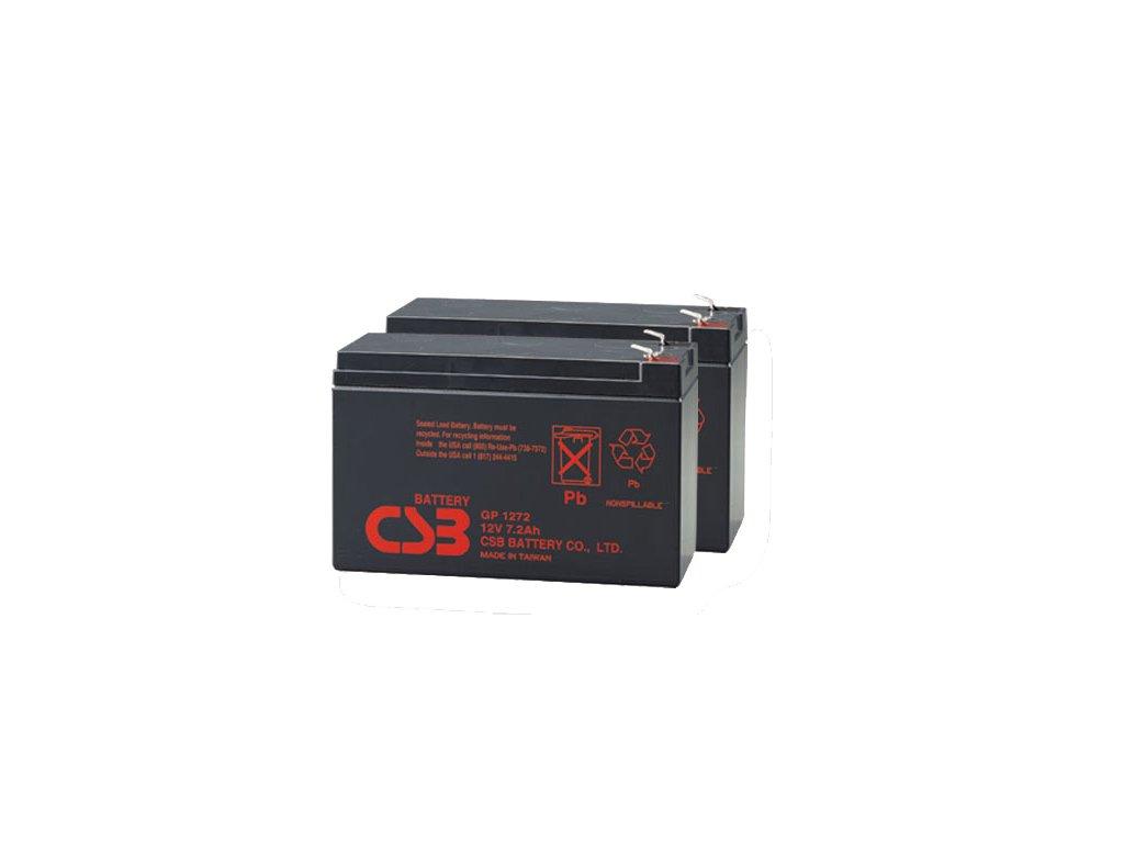 APC RBC33, alternativa bez příslušenství (2ks CSB GP1272 F2)