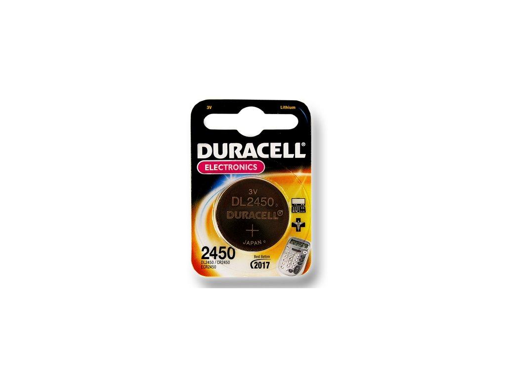 DURACELL knoflíkový článek 3V, CR2450 (DL2450)