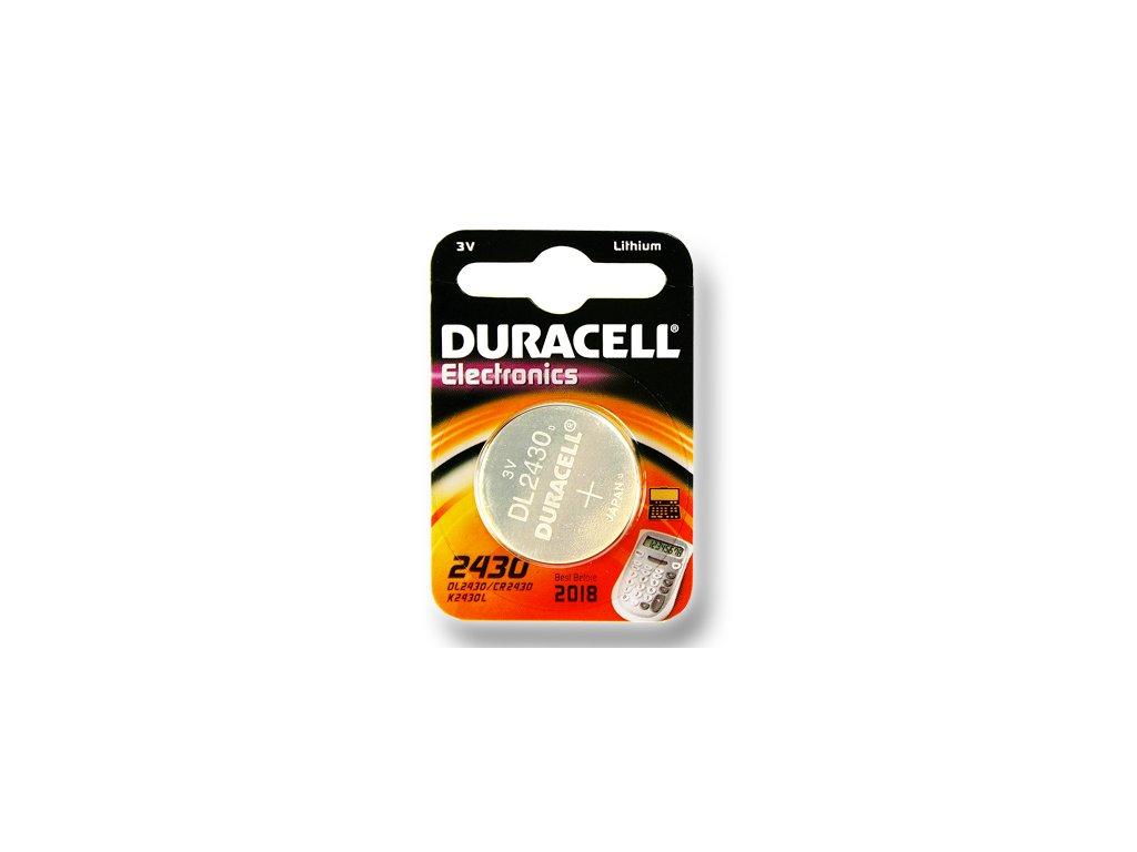 DURACELL knoflíkový článek 3V, CR2430 (DL2430)